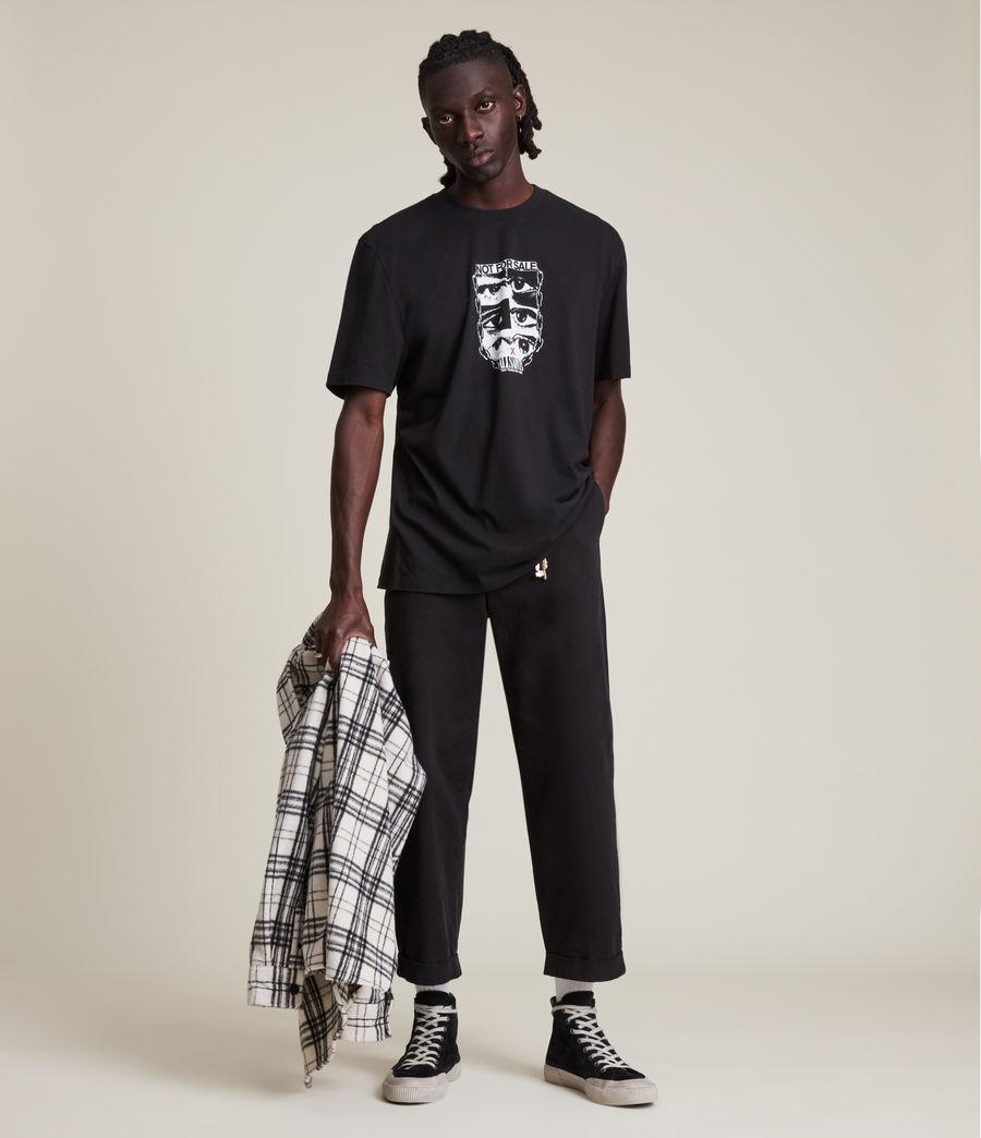 Men's Not For Sale Optix Unisex Crew T-Shirt (jet_black) - Image 3