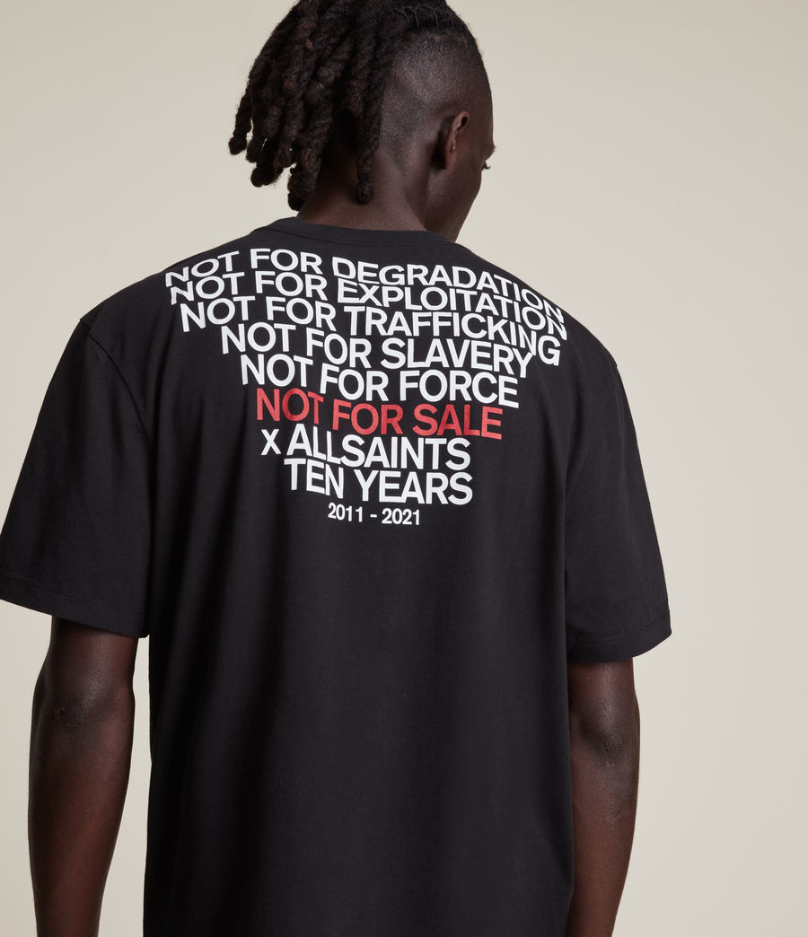 Men's Not For Sale Optix Unisex Crew T-Shirt (jet_black) - Image 4