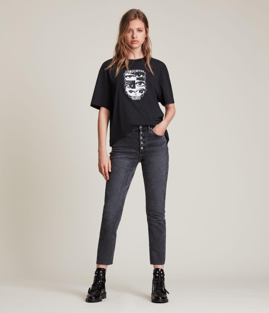 Men's Not For Sale Optix Unisex Crew T-Shirt (jet_black) - Image 5