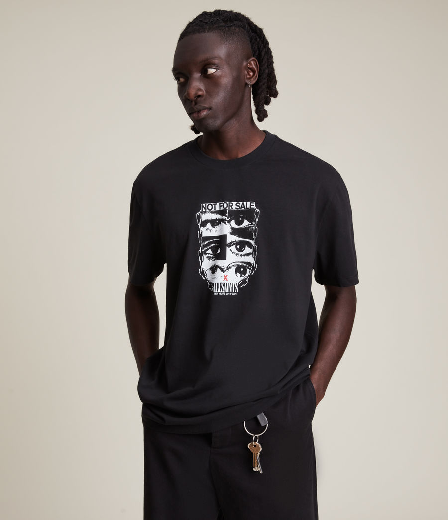 Men's Not For Sale Optix Unisex Crew T-Shirt (jet_black) - Image 8