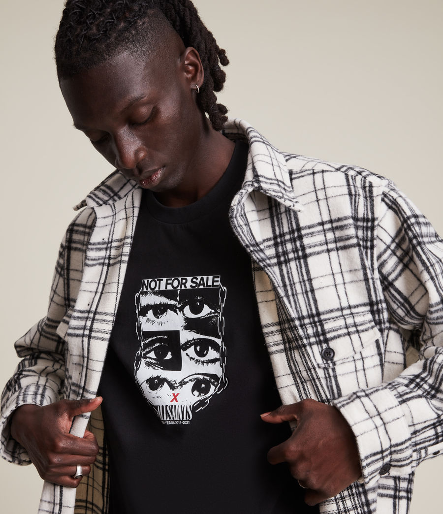 Men's Not For Sale Optix Unisex Crew T-Shirt (jet_black) - Image 9