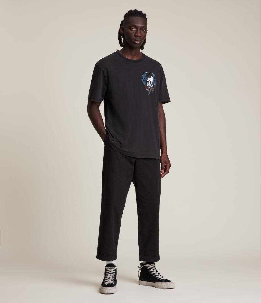 Men's Wraith Crew T-Shirt (jet_black) - Image 5