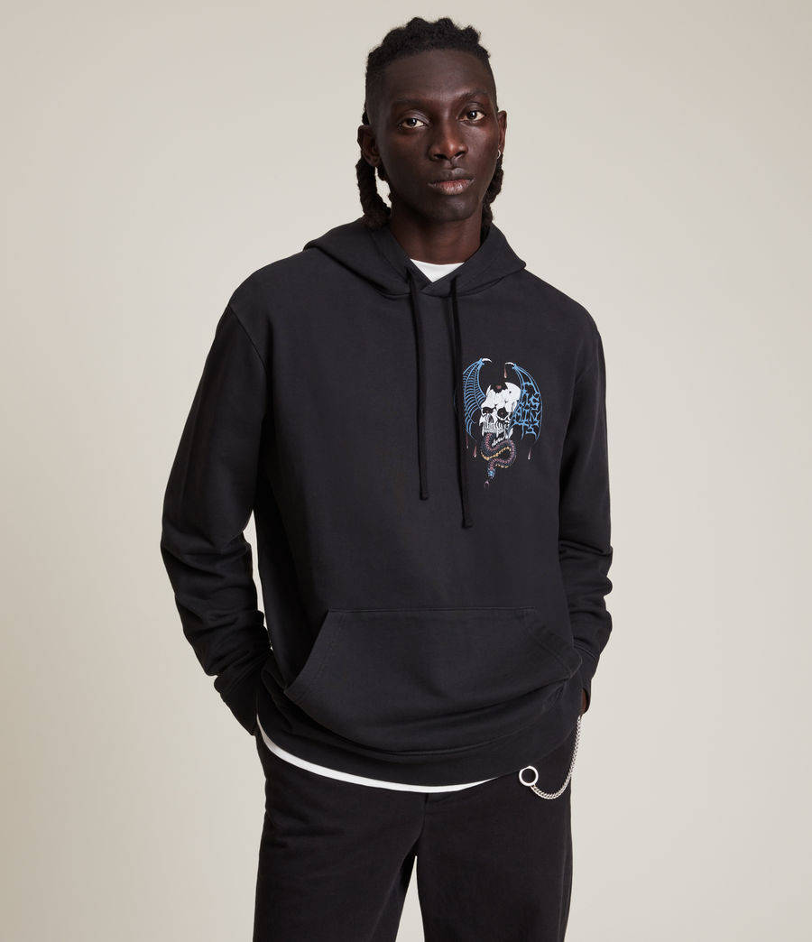 Herren Wraith Pullover Hoodie (washed_black) - Image 1