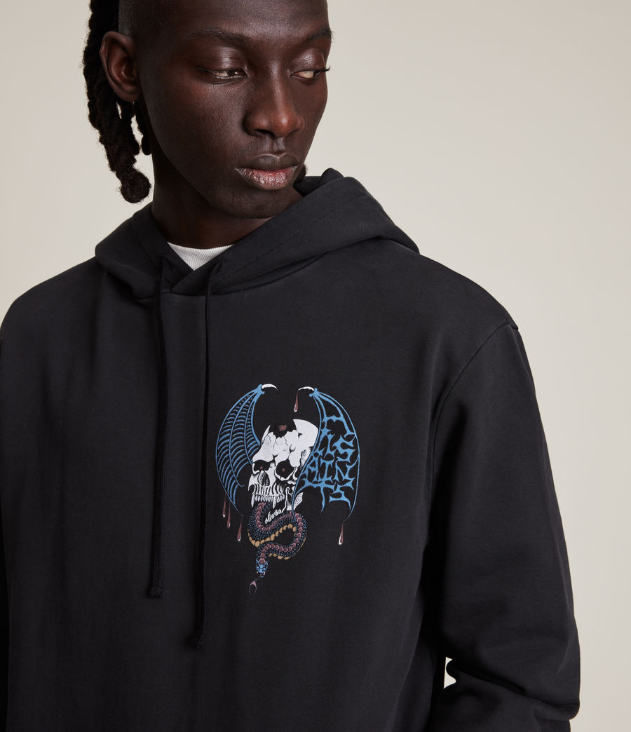Herren Wraith Pullover Hoodie (washed_black) - Image 3