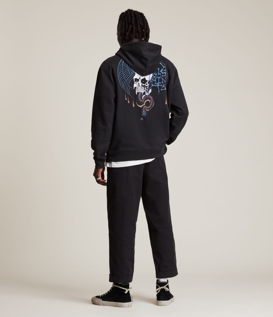 Herren Wraith Pullover Hoodie (washed_black) - Image 5