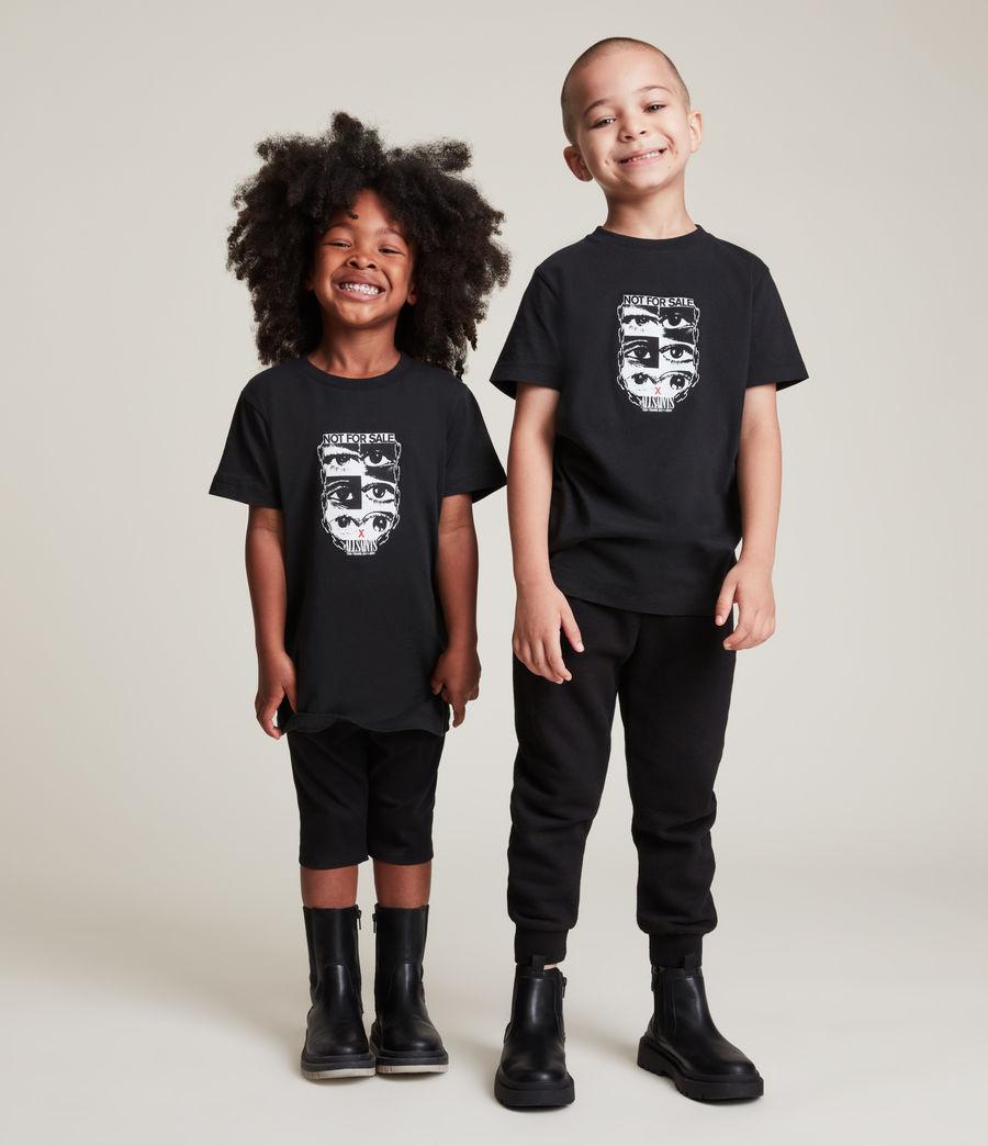 Men's Kids Not For Sale Optix Unisex Crew T-Shirt (jet_black) - Image 1