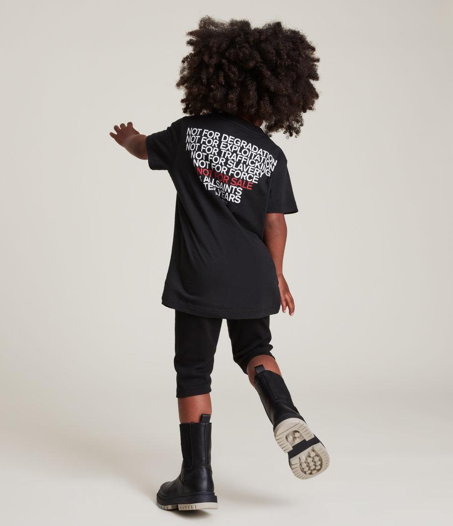 Men's Kids Not For Sale Optix Unisex Crew T-Shirt (jet_black) - Image 12