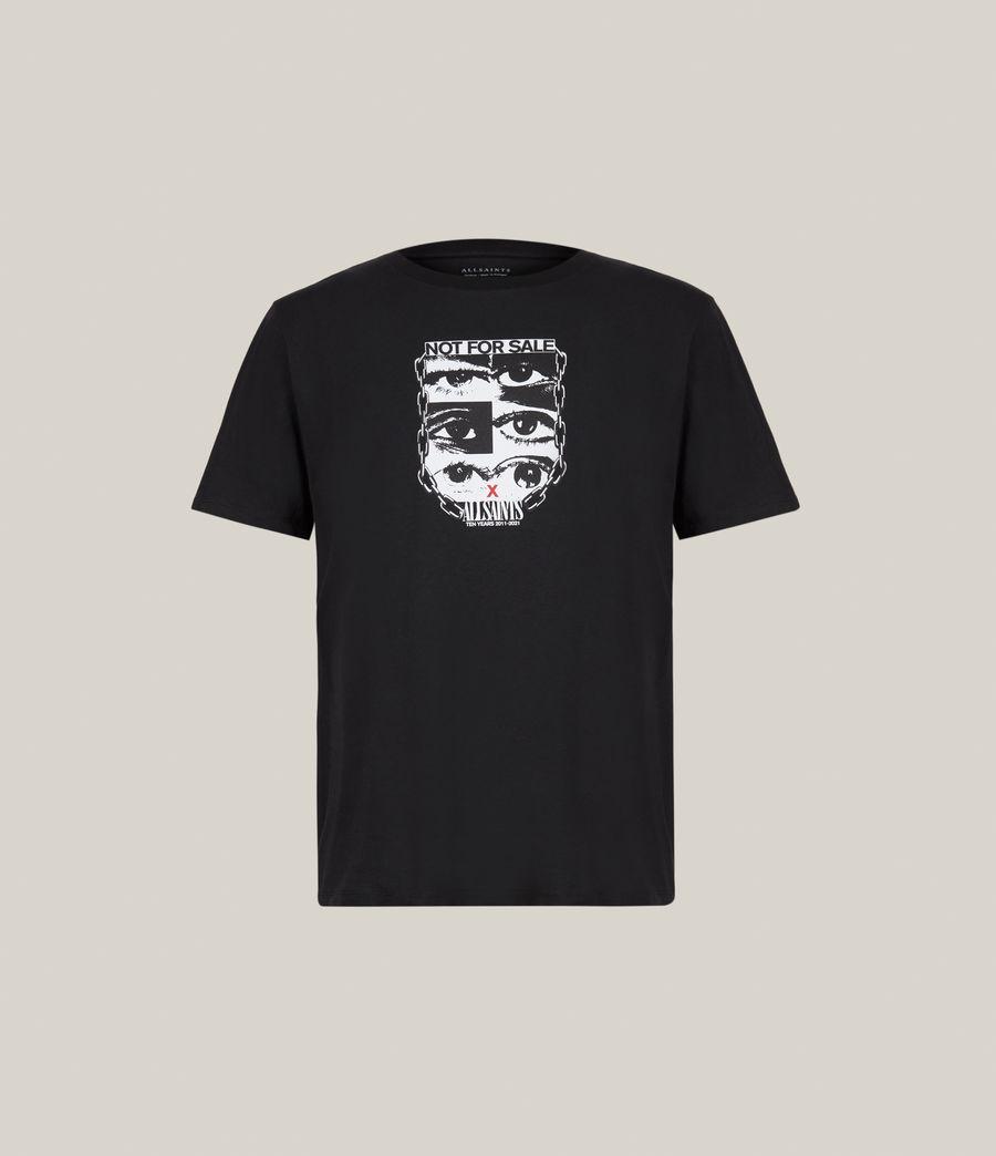 Men's Kids Not For Sale Optix Unisex Crew T-Shirt (jet_black) - Image 2