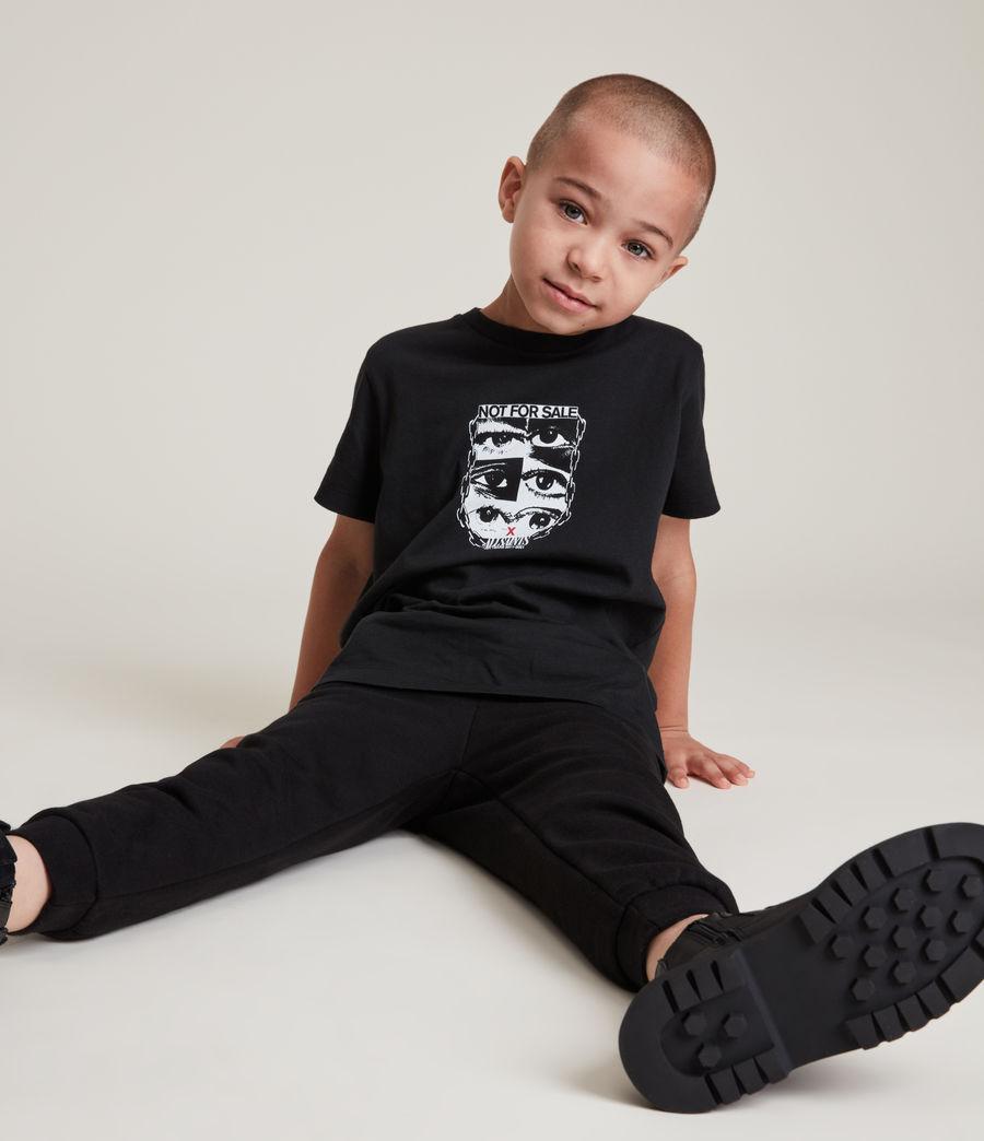 Men's Kids Not For Sale Optix Unisex Crew T-Shirt (jet_black) - Image 3