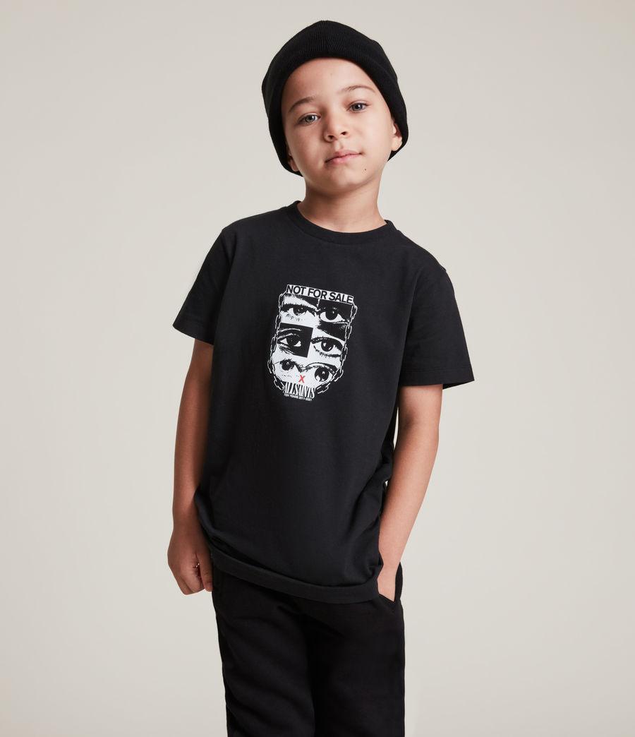 Men's Kids Not For Sale Optix Unisex Crew T-Shirt (jet_black) - Image 4