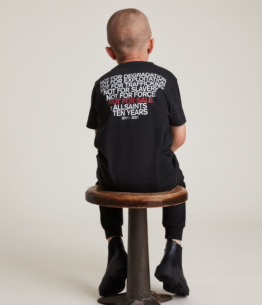 Men's Kids Not For Sale Optix Unisex Crew T-Shirt (jet_black) - Image 6