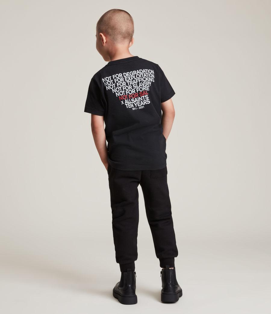 Men's Kids Not For Sale Optix Unisex Crew T-Shirt (jet_black) - Image 7