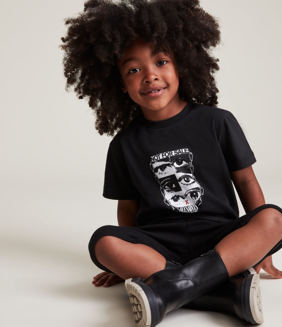 Men's Kids Not For Sale Optix Unisex Crew T-Shirt (jet_black) - Image 8