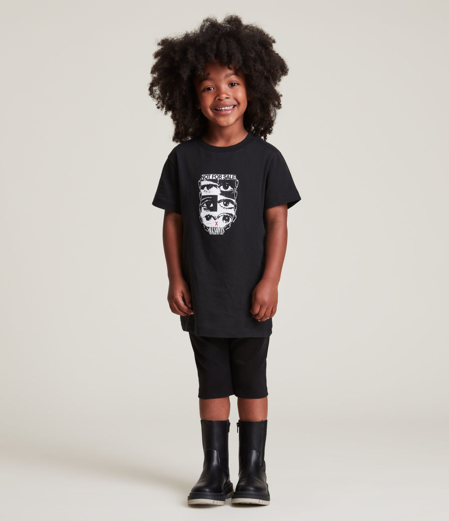Men's Kids Not For Sale Optix Unisex Crew T-Shirt (jet_black) - Image 9