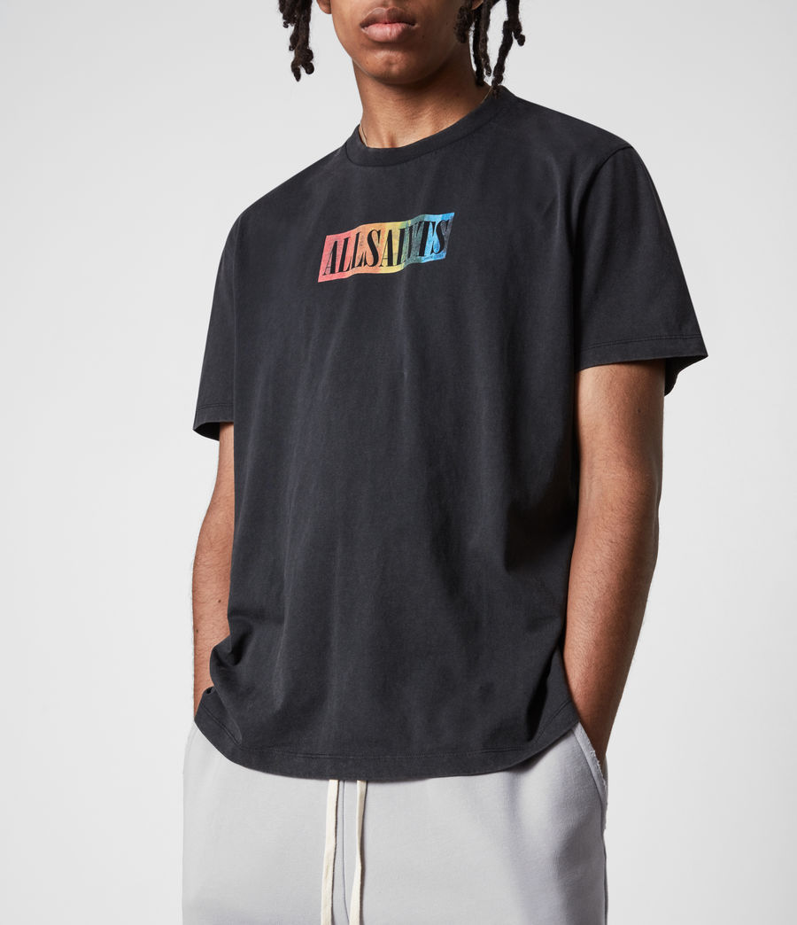 Mens Pride Crew T-Shirt (jet_black) - Image 8