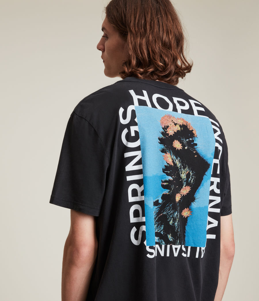Men's Desert Rose Crew T-Shirt (jet_black) - Image 1