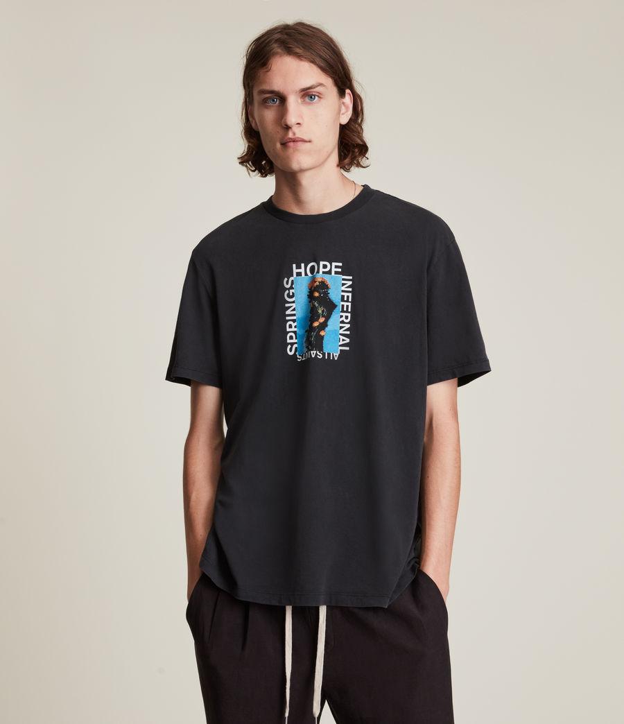 Men's Desert Rose Crew T-Shirt (jet_black) - Image 2