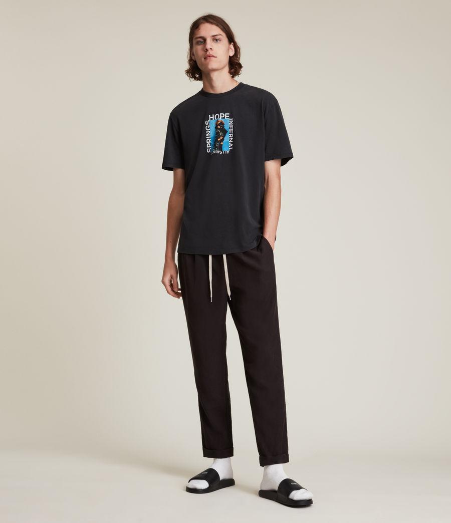 Men's Desert Rose Crew T-Shirt (jet_black) - Image 3
