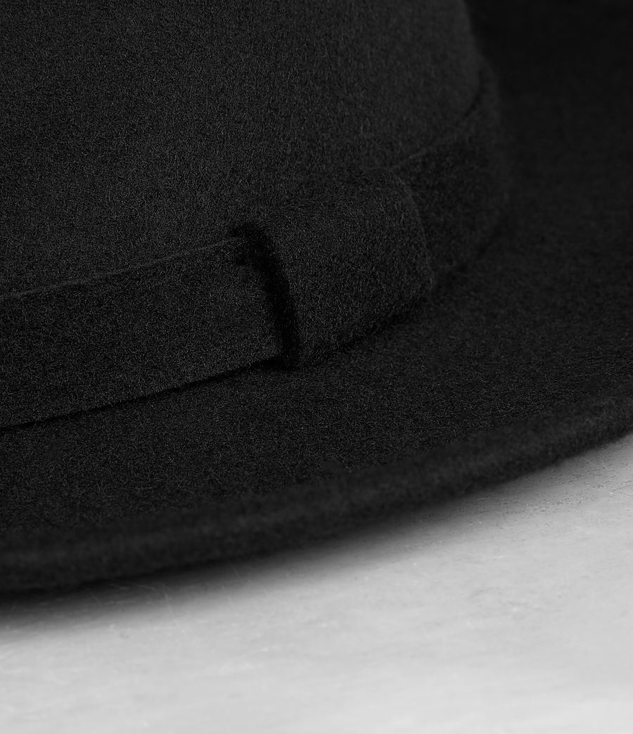 ALLSAINTS UK: Mens Bronson Fedora Hat (Black)