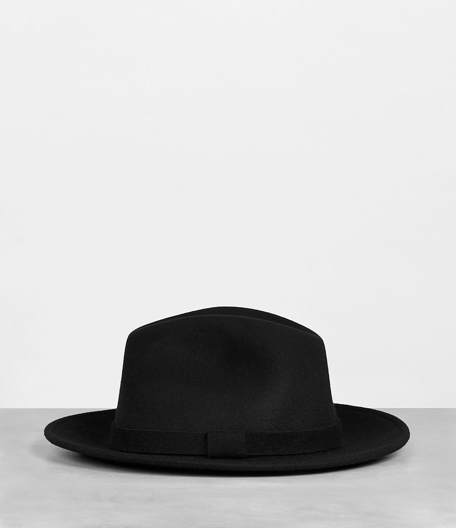 Men's Bronson Fedora Hat (black) - Image 3