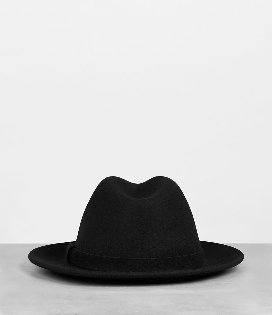 Men's Bronson Fedora Hat (black) - Image 4