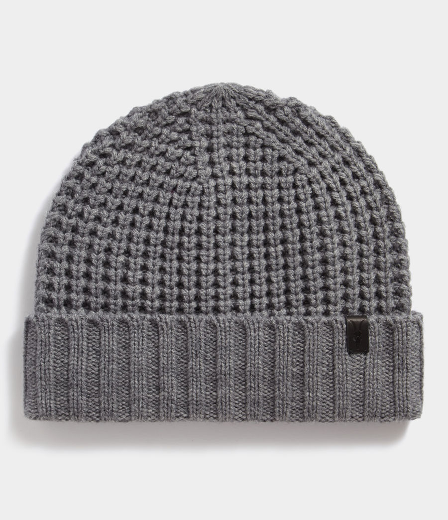 Hombres Thermal Stitch Beanie (grey_marl) - Image 1