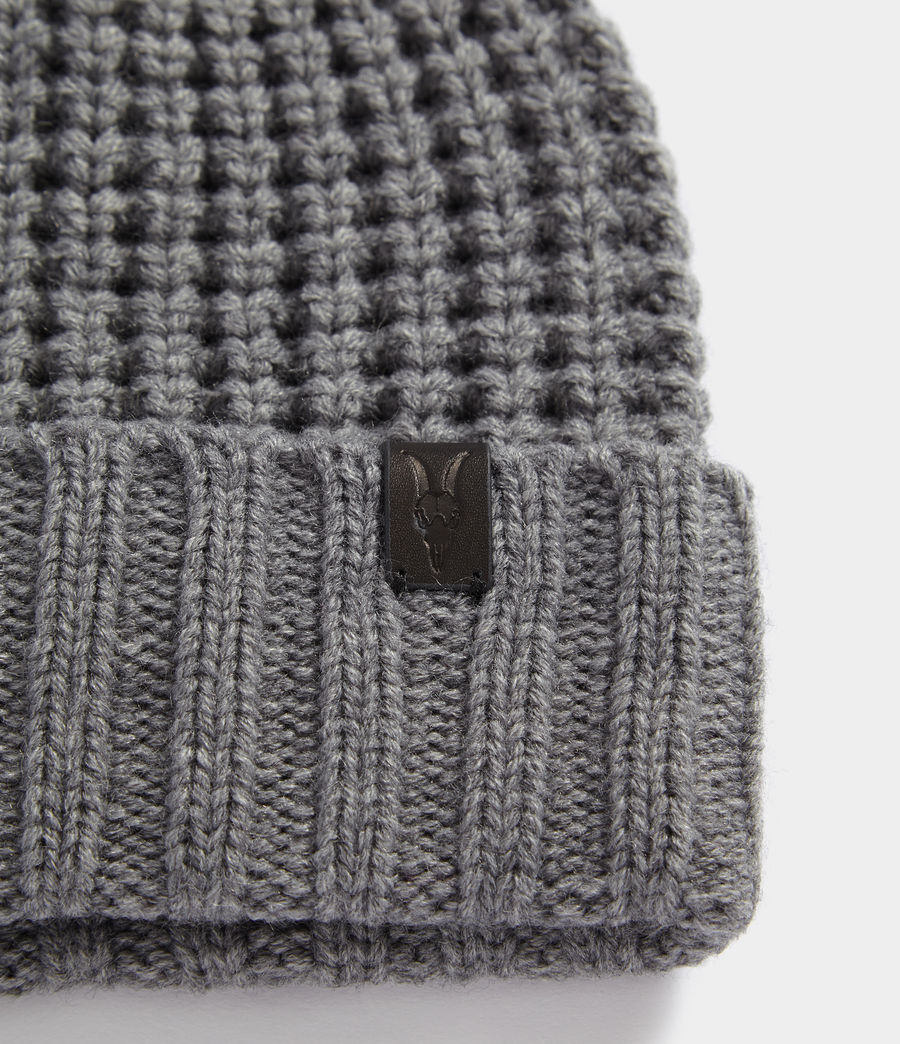 Hombres Thermal Stitch Beanie (grey_marl) - Image 2