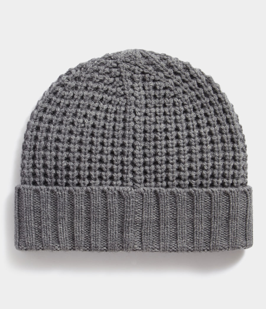 Hombres Thermal Stitch Beanie (grey_marl) - Image 3