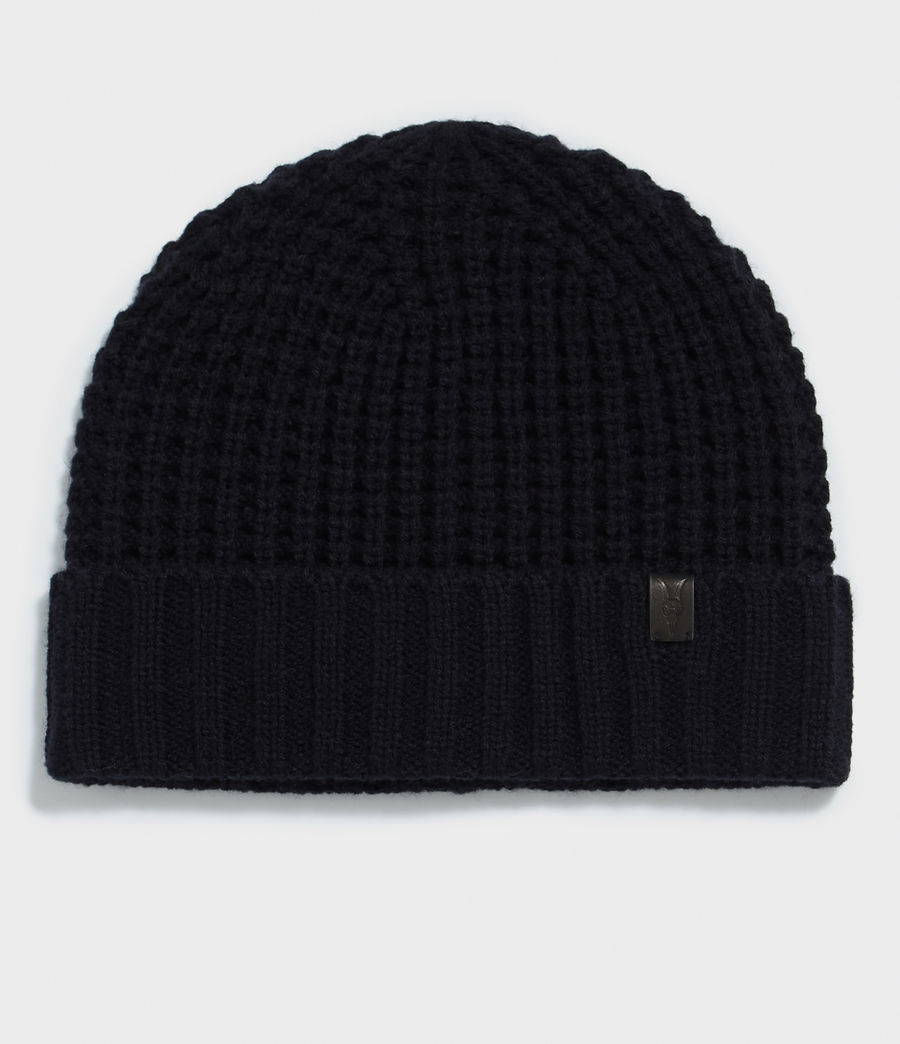 Hombres Thermal Stitch Beanie (ink_navy) - Image 1
