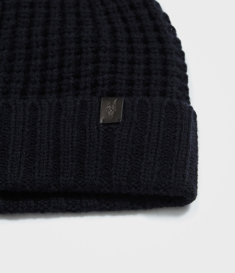 Hombres Thermal Stitch Beanie (ink_navy) - Image 2