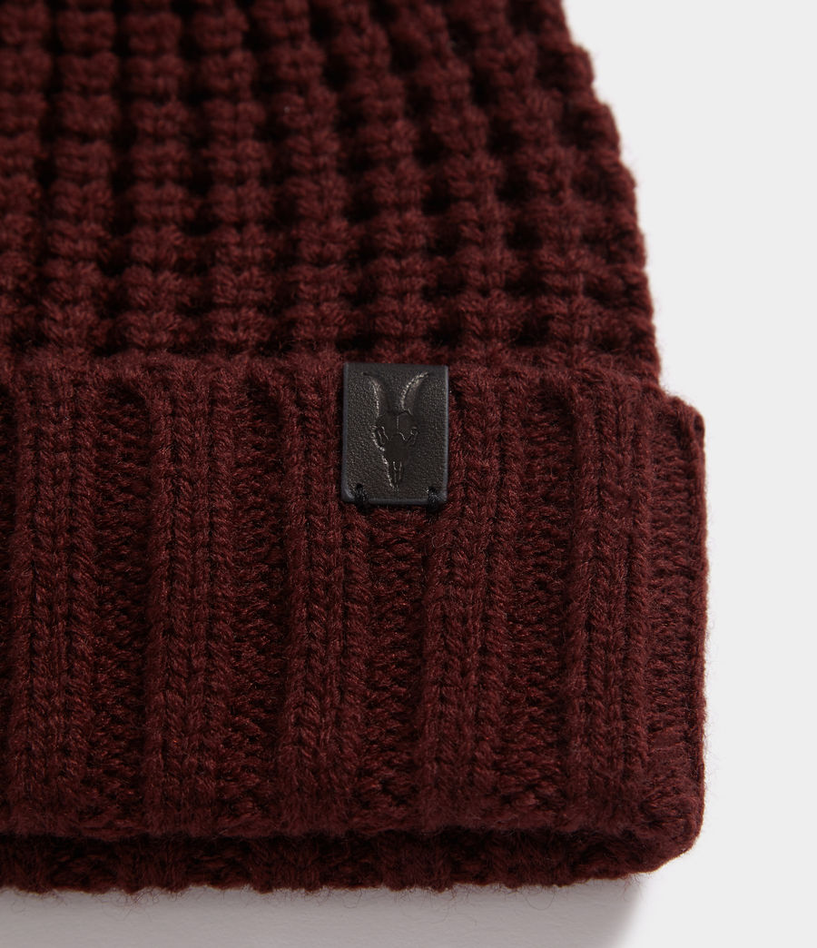 Hombres Thermal Stitch Beanie (dark_rust_red) - Image 2