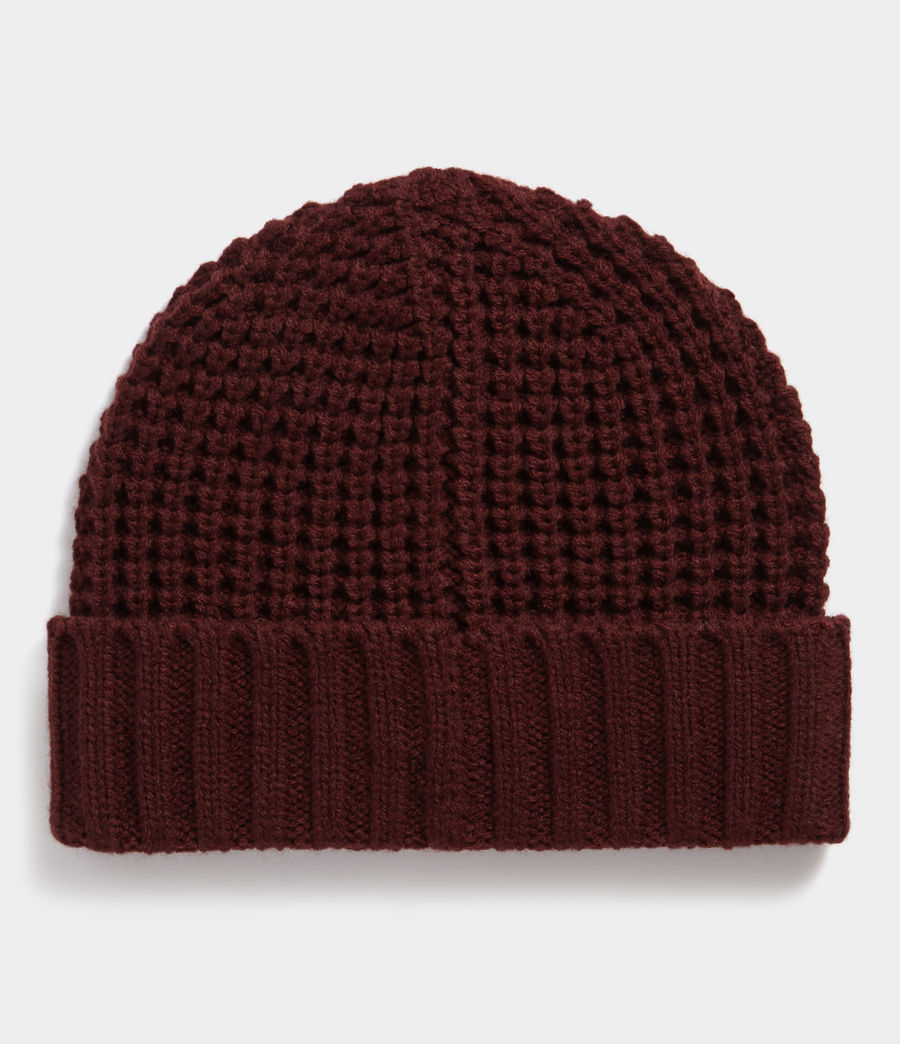 Hombres Thermal Stitch Beanie (dark_rust_red) - Image 3