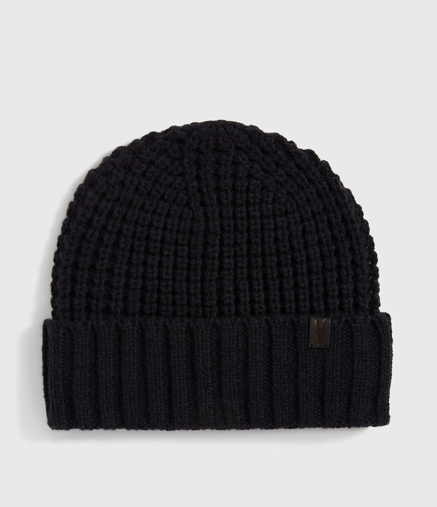Men's Thermal Wool Blend Beanie (black) - Image 1