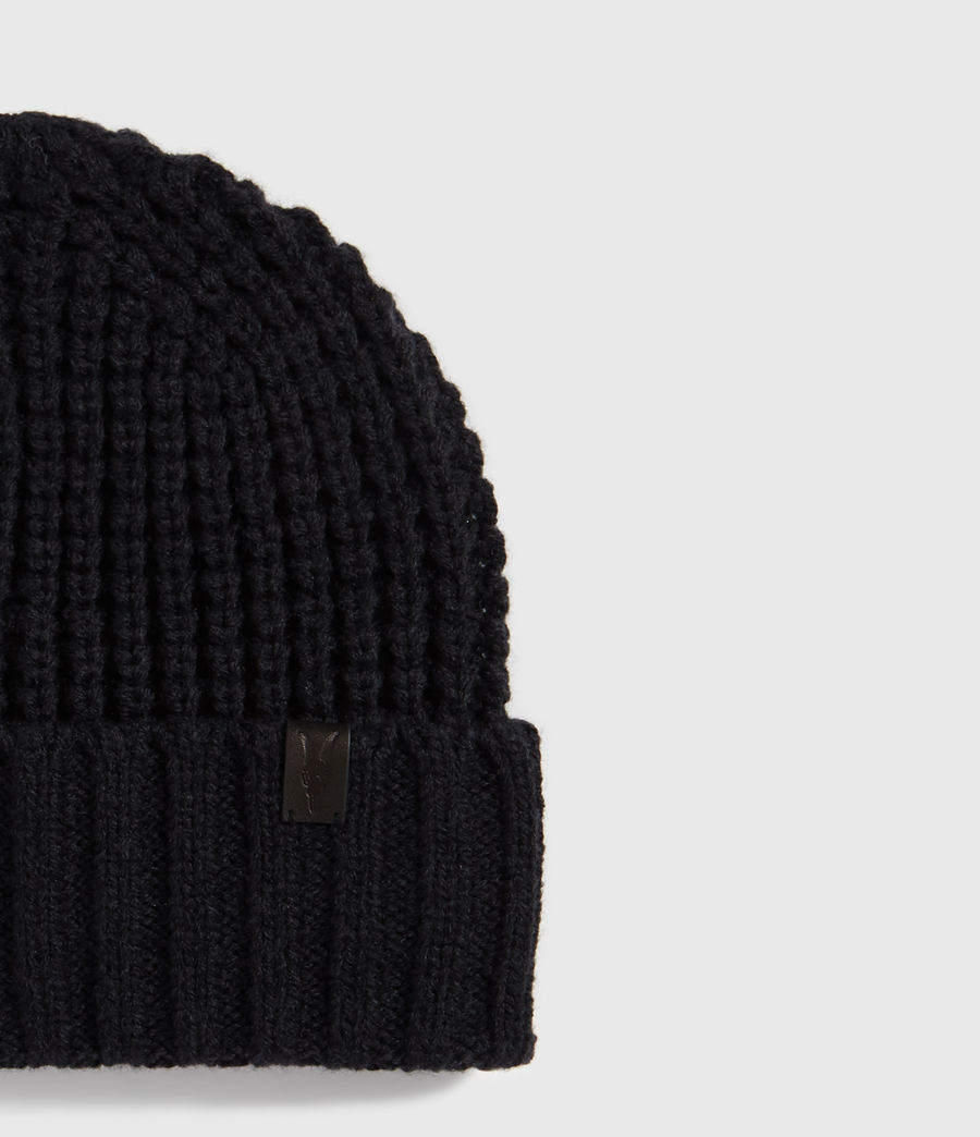 Men's Thermal Wool Blend Beanie (black) - Image 3