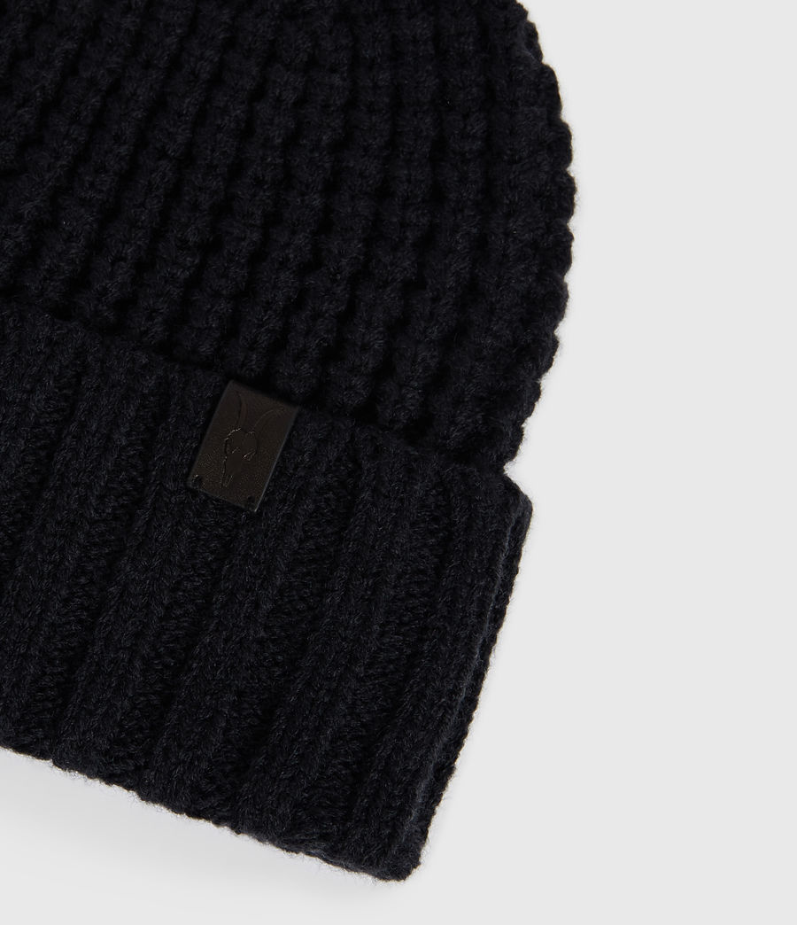 Men's Thermal Wool Blend Beanie (black) - Image 4