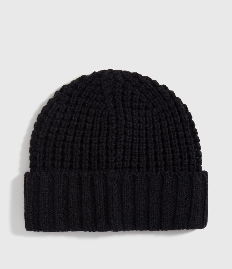 Men's Thermal Wool Blend Beanie (black) - Image 5
