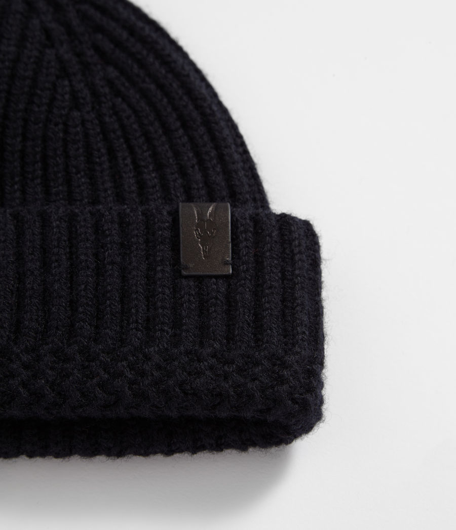 Men's Merino Beanie (ink_navy) - Image 2