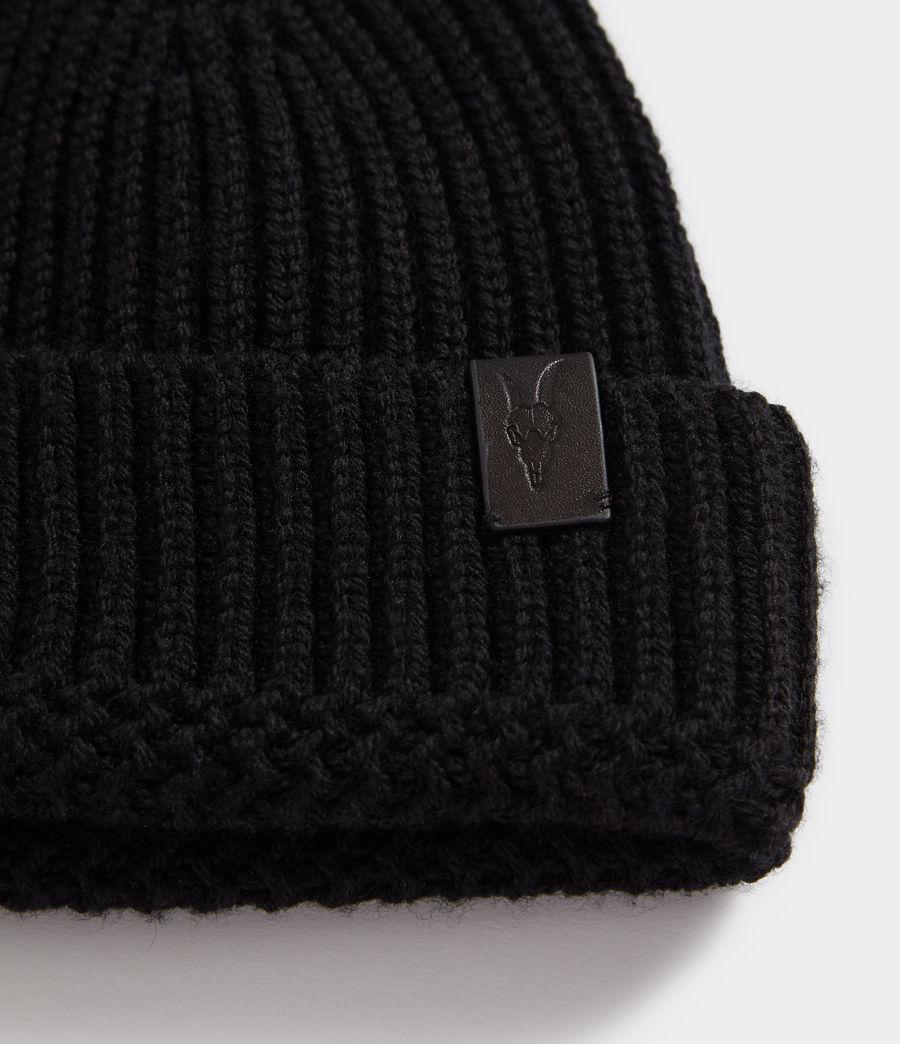 Hommes Bonnet en Laine Mérinos (black) - Image 2