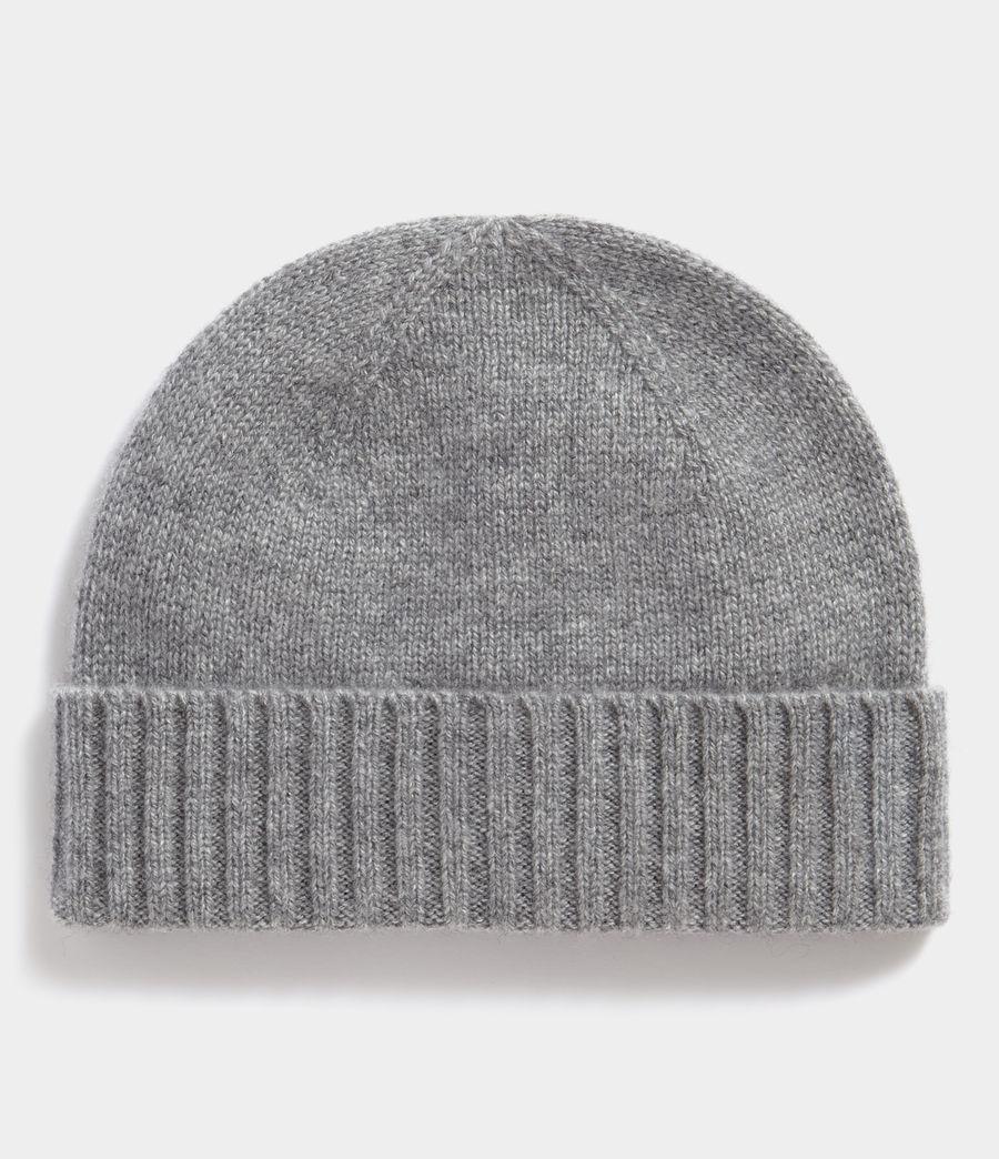 Men's Solid Cashmere Beanie (grey_marl) - Image 1