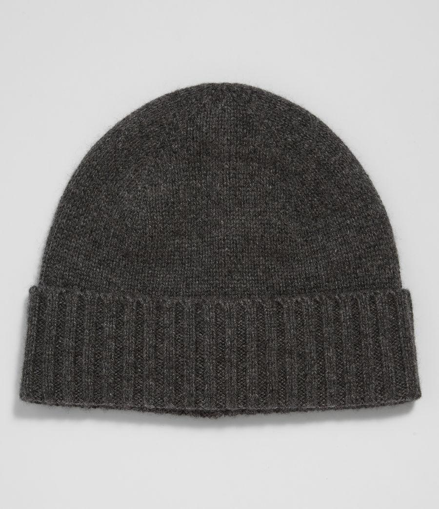 Mens Solid Cashmere Beanie (cinder_black_marl) - Image 1