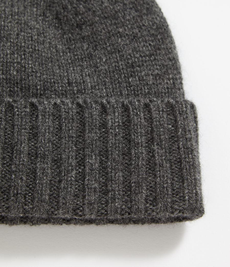 Mens Solid Cashmere Beanie (cinder_black_marl) - Image 2
