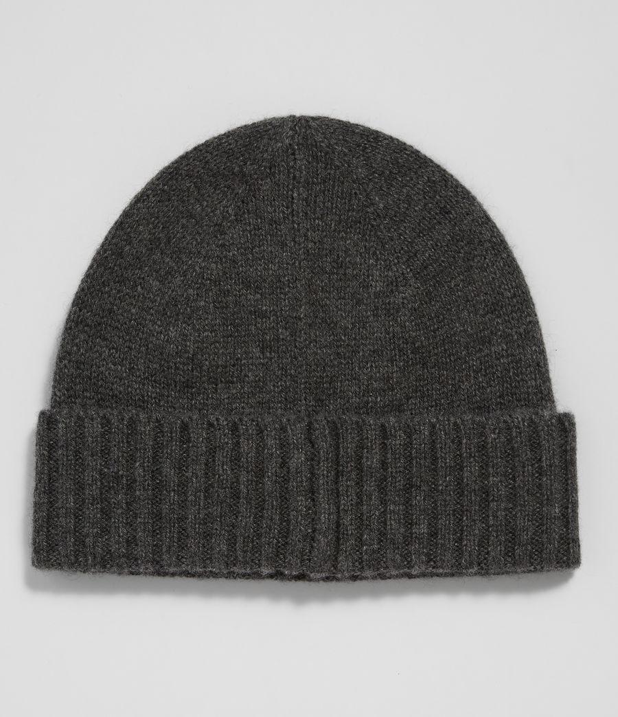 Mens Solid Cashmere Beanie (cinder_black_marl) - Image 3