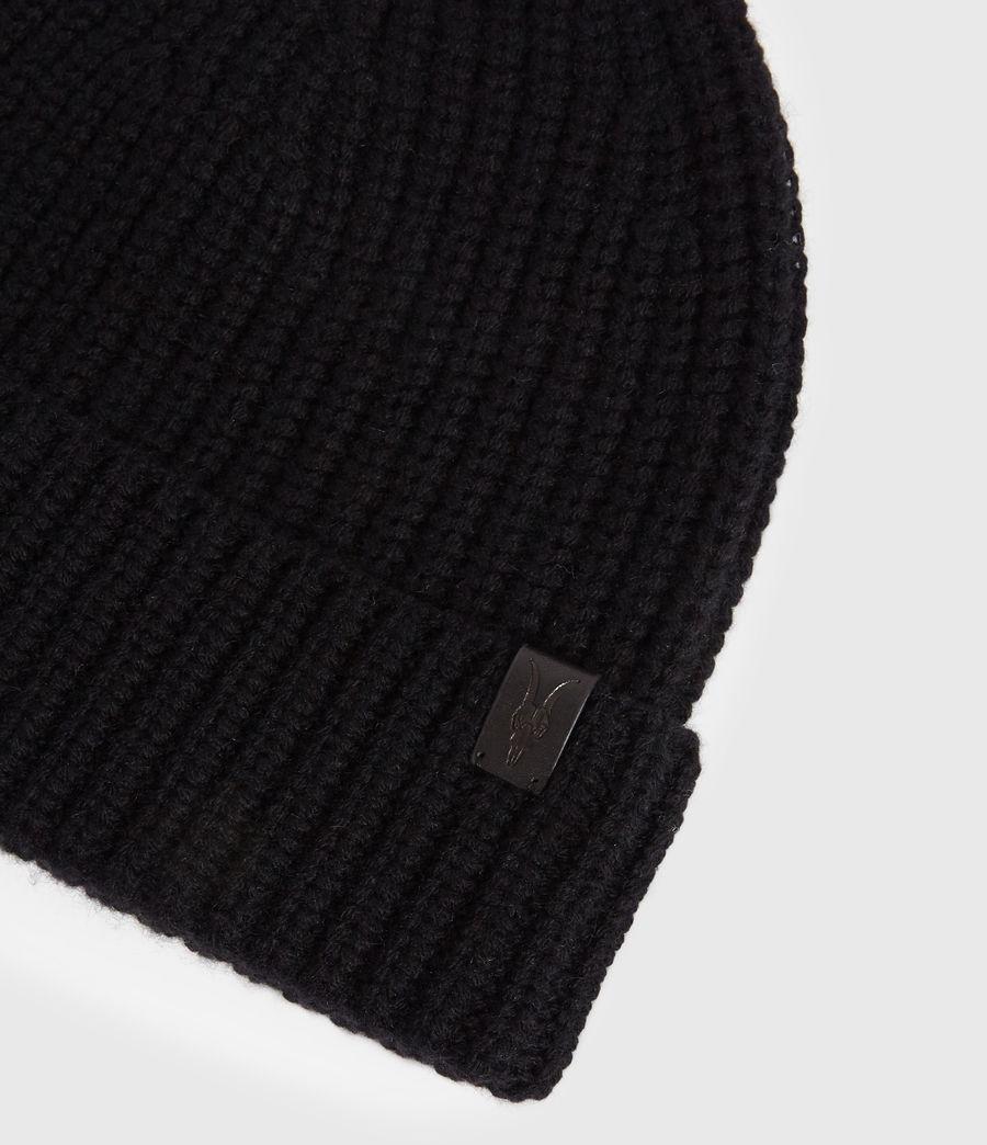 Uomo Berretto Half Cardigan - In lana merino e cashmere (black) - Image 4