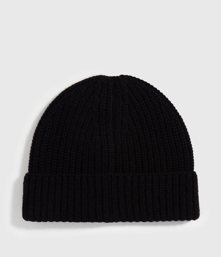 Uomo Berretto Half Cardigan - In lana merino e cashmere (black) - Image 5