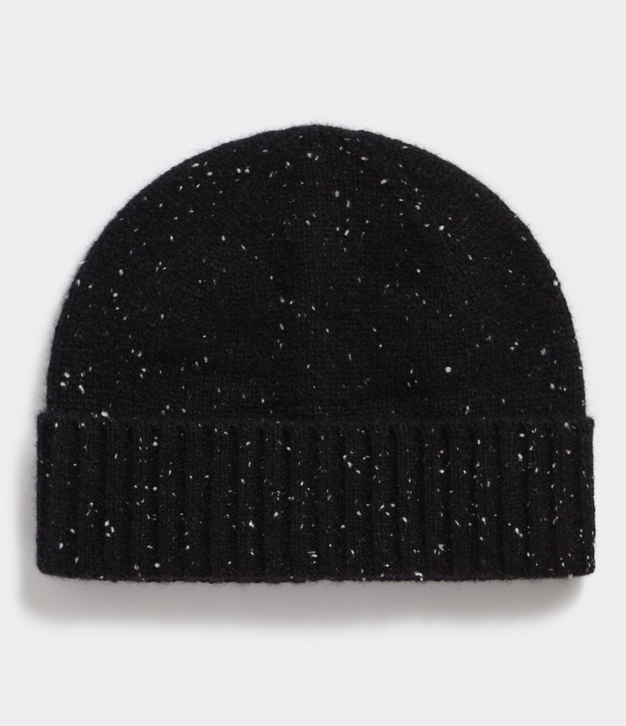 Product shot of the Flecked Cashmere Beanie