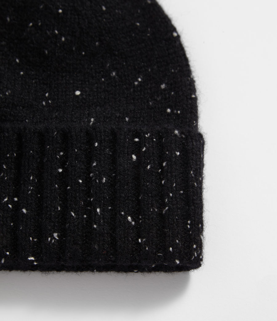 Hombres Flecked Cashmere Beanie (black) - Image 2