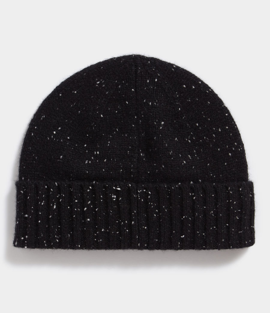 Hombres Flecked Cashmere Beanie (black) - Image 3