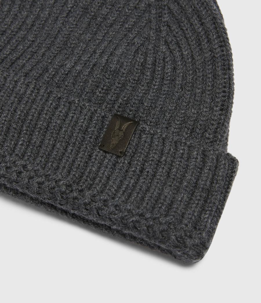 Mens Merino Wool Blend Beanie (charcoal) - Image 3
