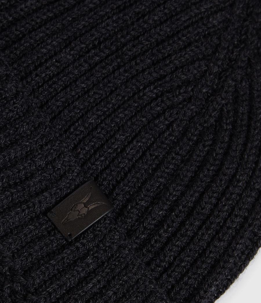Hommes Bonnet en Laine Mérinos (cinder_black_marl) - Image 4