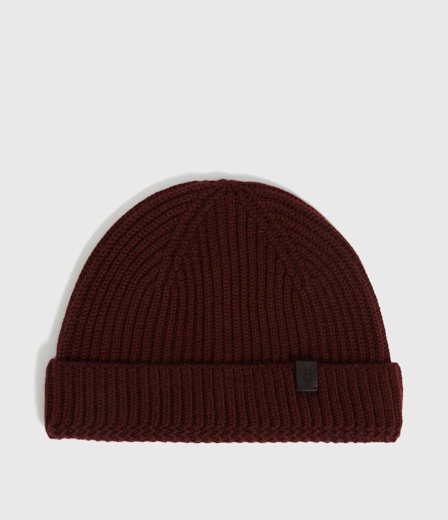 Men's Merino Wool Beanie (maroon_red) - Image 1